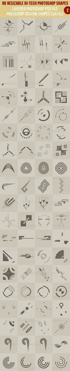 80 Photoshop Hi-Tech Shapes 2 - http://graphicriver.net/item/80-photoshop-hitech-shapes-2/2705822?ref=cruzine