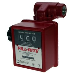 "Fill-Rite 1"" Diesel Flow Meter & Strainer  3 Digit flow meter with integral inlet strainer. 1"" BSPF ports. 19-75L/min. 3 d	igit register, 6 digit non-resettable totaliser. 400 micron strainer.  • Only suitable for use with diesel or biodiesel up to B30. • Robust nutating disc flow meter shows up to 999 litres. • 19 - 75L/min. Max. pressure 50 psi (3.5 bar). • Accuracy of +/- 2% with adjustable calibration. • Option 10:1 pulser, fitted to meter on request (PULS10)."
