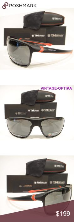 282cfd4e575 Tag Heuer 6023 Sunglasses Matt Black Red Polarized These are 100% Genuine