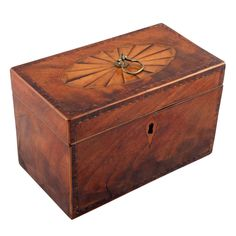 Sheraton Mahogany Tea Caddy