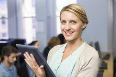Teacher using digital tablet in computer class Computer Class, School Leadership, Digital Tablet, Professional Development, Platform, Teacher, Stock Photos, Education, Portrait