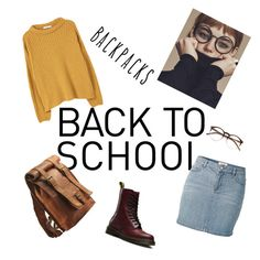 """Back to school"" by bibi-bianca-1 on Polyvore featuring Fat Face, MANGO, Dr. Martens and Wildfox"