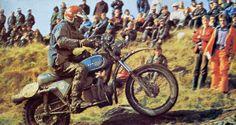 IOM ISDT 1975 - Ivan Saravesi Hercules Wankel KC29 (Foto Moto Journal)