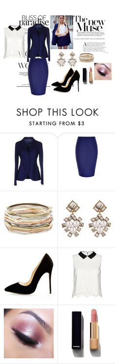 """""""muse"""" by azra-v ❤ liked on Polyvore featuring Tagliatore, City Chic, Kendra Scott, Alice + Olivia, Too Faced Cosmetics and Chanel"""
