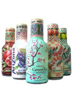 Different flavors of Arizona tea
