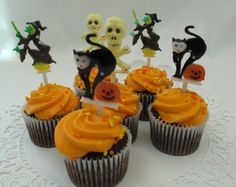 Halloween Cake Decorations Nz : Vintage Baking Decorations on Pinterest Cupcake Picks ...