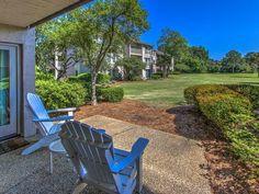 Take in the views at Patio at 1749 Bluff Villa - a Sea Pines vacation villa