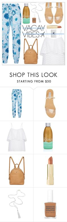 """Beach Please: Vacay Outfit"" by leinapacheco ❤ liked on Polyvore featuring Seafolly, Steve Madden, Kopari, Urban Originals, Axiology, Mark & Graham, BeachPlease and vacayoutfit"