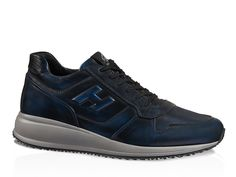 Hogan Interactive N20 blue two-tone soft leather shoes - Italian Boutique €224