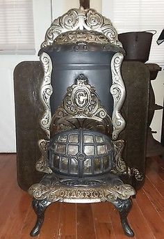 Antique salesmen sample of a Pot Belly Stove  Stove Cast