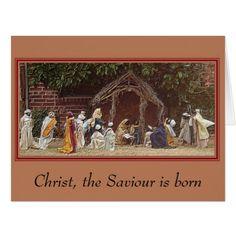 """""""Outdoor Nativity"""" 8.5 x 11 Christmas Card - Xmas ChristmasEve Christmas Eve Christmas merry xmas family kids gifts holidays Santa"""