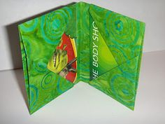 Fabric Folded Origami Checkbook cover & Credit/Gift Card holder.