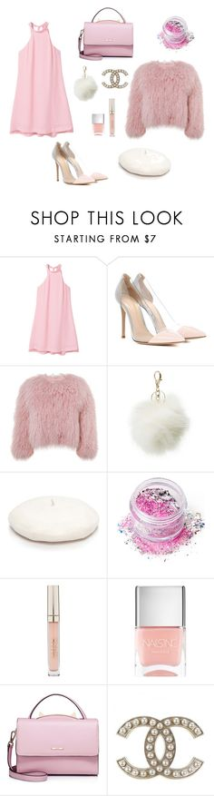 """Chanel № 1"" by ytopia on Polyvore featuring MANGO, Gianvito Rossi, Charlotte Simone, Charlotte Russe, New Directions, In Your Dreams, Stila and WithChic"