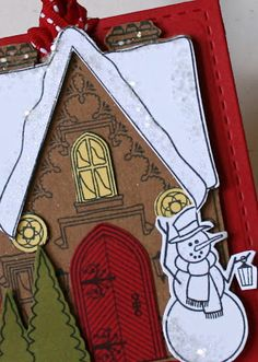 Cottage Christmas tag, Waltzingmouse Stamps.