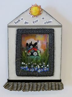Linda Walsh Originals Dolls and Crafts Blog: My Artful Gathering Session 1 Finished Project Piece - Let's Go For A Ride