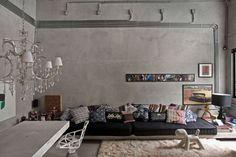 бетонная стена в интерьере - Поиск в Google