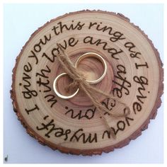 One of my wooden wedding ring holders