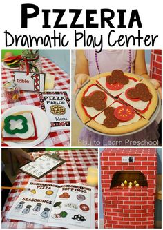 You might know that we really, really, love the Dramatic Play center. By changing it regularly from the basic Home Living center to other scenarios we give our students the opportunity to take on diff Dramatic Play Themes, Dramatic Play Area, Dramatic Play Centers, Preschool Dramatic Play, Play Based Learning, Learning Through Play, Prop Box, Role Play Areas, Restaurant Themes