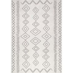 Home Decorators Collection Samba Square Gray 5 ft. x 7 ft. Indoor/Outdoor Area Rug-32465 - The Home Depot Affordable Area Rugs, Polypropylene Rugs, Rectangular Rugs, Rectangle Area, Area Rug Sizes, Large Area Rugs, Indoor Outdoor Area Rugs, Outdoor Carpet, Outdoor Walls