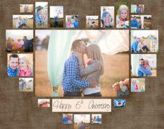 """4 verschiedenen Herz Foto Collage Vorlage PSD. Valentinstag Geschenk. Geschenk für sie. Sofort-Download. Digitale Kopie 40 """"x 40"""" / 20 """"X20"""" / 10 """"X10"""""""