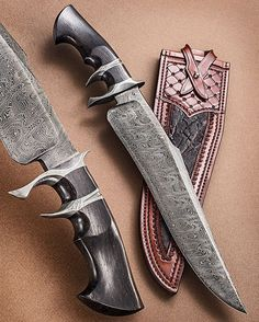 """Sam Lurquin from Belgium with a rare damascus subhilt 'Tsavo' model. This knife SCREAMS """"Take ME to a gunfight!"""" Sheath by the masterful Paul Long from Texas. #samlurquin #samuellurquin #samlurquinknives ____________ #knifepics #knifephoto #sharpbycoop #knives #knifenut #knifestagram #knifecommunity #knifeporn #knifecollection #allknivesdaily #customknives #everyday_tactical #grailknives #photooftheday #picoftheday #dailybadass #everydaycarry #edcknife #grailknife #allknivesdaily #luxury"""