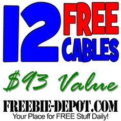 ►► 12 FREE Cables from Amazon!!! $93 Total Value - Exp 12/18/16 ►► #Amazon, #Free, #FreeAfterRebate, #FREEStuff, #FREEbate, #Freebie, #Frugal, #SellItOnEBay ►►