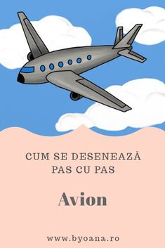 Avion - cum se desenează, #desen pas cu pas #learntodraw #drawing