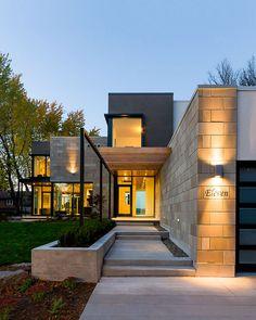 conception Simmonds Odai Residence soigneusement orchestrée intérieur Rencontres en plein air: la rivière des Outaouais Maison
