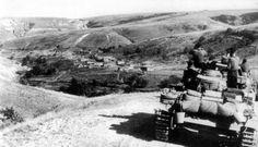 Немецкие танки под Сталинградом в районе хутора Берёзов