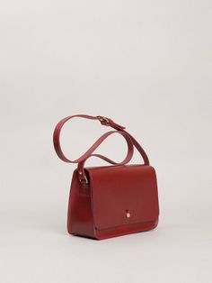 592c027e0b2b Claret Red Leather Badger Shoulder Bag - Trouva  redleatherbag