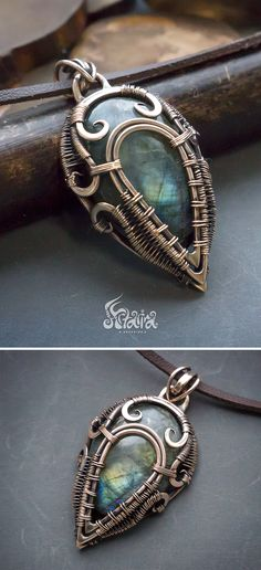 Bronze wire wrap necklace