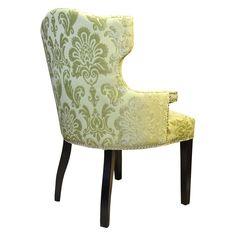 HD Couture Chartruese Fan Damask Brittania Chair