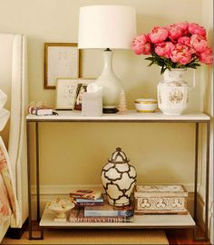 If clutter is taking over your night stand, try removing items that don't belong and place everything else in a cute box or basket.