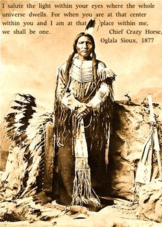 Image result for images of chief crazy horse with quote