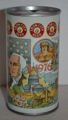 Vintage Iron City Beer Can Pull Tab 12 FL.OZ. Pittsburgh 1976 Virginia Bicentenn #IronCityBeer
