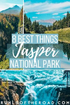 Things to do in Jasper National Park, the best Canadian vacation destinations. Jasper National Park, in Alberta Canada has incredible free National Park camping, Jasper hiking, Jasper lakes & wildlife. Take a National Parks road trip & spend time in Jasper National Park & the Canadian rocky mountains experiencing the Columbia Icefields, Maligne Lake, Sunwapta falls, Athabasca glacier & Maligne Canyon. Jasper is one of the best places in Canada! Plan a trip to Canada using this Jasper guide! Canada National Parks, Jasper National Park, Parks Canada, Glacier National Park Canada, Jasper Park, Trip To Canada, Canada Travel, Travel Usa, Travel Tips