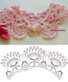 Crochet collar with chart / diagram