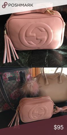 Pink fringe style shoulder bag Blush pink, real leather beautiful quality 💖🎀🎀 Bags Crossbody Bags