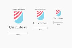 Unrideau / CI design on Behance Ci Design, Logo Design, Logo Branding, Logos, Corporate Identity Design, Brand Guidelines, Packaging Design, Typography, Type