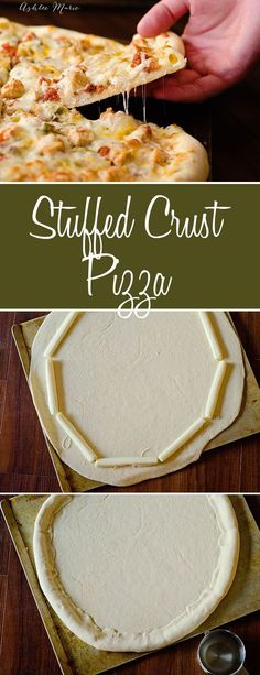 we make homemade pizzas once a week at our house, my kids love to make their own stuffed crust pizza