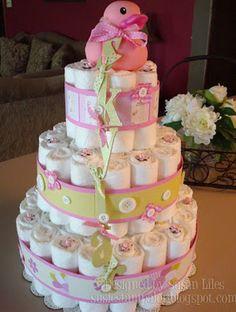 óriás pelenka torta