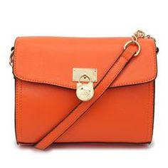Michael Kors Hamilton Traveler Small Orange Crossbody Bags