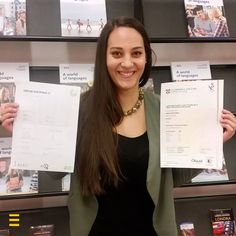 Amira has shown to be a real polyglot! It's not every day you overcome both the English CAE and the German Goethe C1 💯🎉 #ESLlers #LearnwithESL