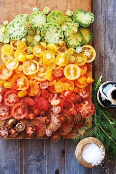 ombré hierloom tomatoes.