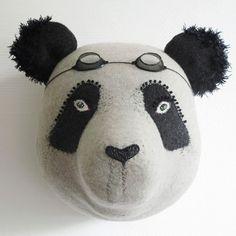 panda by désaccord Crochet Taxidermy, Faux Taxidermy, Doll Toys, Pet Toys, Toys For Boys, Kids Toys, Panda Love, Panda Panda, Fox Nursery