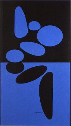 Victor Vasarely - Belle Isle Bleue, 1949