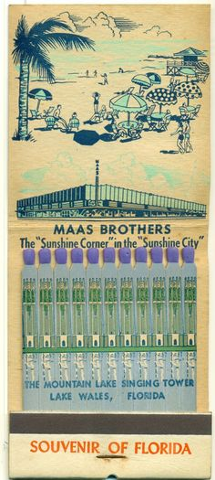 Municipal Pier Giant Feature Matchbook St Petersburg FL | eBay