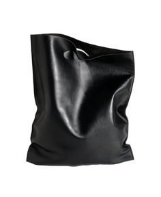 fluo bag black, shoppingbag made of soft calf leather by Etsy @Luvocracy |