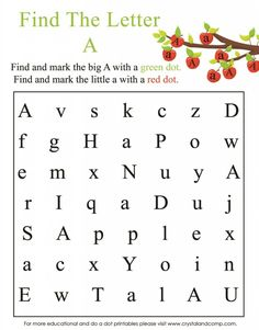 find the letter a do a dot