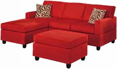 Red Sectional Sofa With Inspiration Image